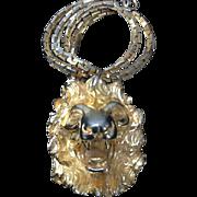 Vintage Leiber Lion Statement Necklace/ Brooch