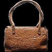 Vintage Leiber Large Python Handbag with Trapunto