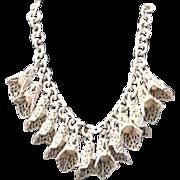 "Vintage Celluloid ""Leaf and Bell"" Necklace"