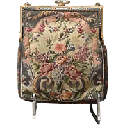 Vintage Micro Petit Point Purse with Jeweled Frame