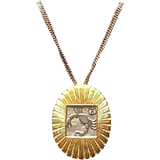 """SALE Vintage Leiber Zodiac """"Cancer"""" Brooch and Necklace"""