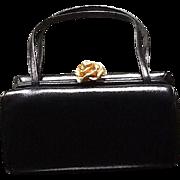 Vintage Petite Saffian Leather Handbag by Morris Moskowitz