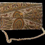 VIntage Morris Moskowitz Patterned Leather Clutch/Shoulder Bag