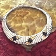 SALE Vintage Modernist Designer Alexis Kirk Choker Necklace