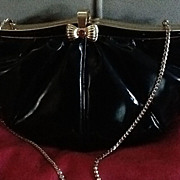 Vintage Leiber Patent Purse with Jeweled Clasp