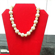SALE Vintage Celluloid Necklace with Funky Beads