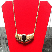 SALE Vintage Ciner Slider Necklace with Gripoix Statement Piece