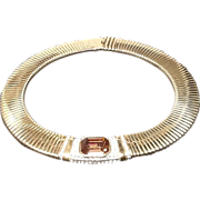 SALE ***SALE***Vintage Ciner Wide Coiled Collar Necklace with Jewels