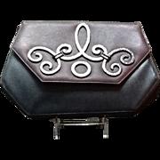 SALE PENDING Vintage Unusual Picasso Handbag with Metal Detailing