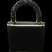 VIntage Koret Leather Purse with Jeweled Handle