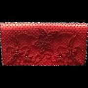 SALE Vintage Josef Hand Beaded Red Purse