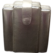 SALE VIntage Barbara Bolan Structural Silver Handbag Clutch Deco Inspired