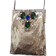 Vintage Whiting and Davis Mesh Purse with Huge Jewels