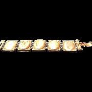 "SALE Vintage Carnegie ""Locket""  Bracelet"