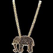 Vintage Pauline Rader Jeweled Elephant Choker/Pin