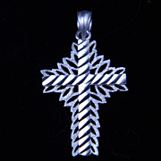 SALE Vintage Sterling Silver Cross Charm or Pendant