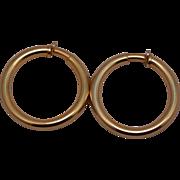 SALE Vintage Napier Goldtone Clip Hoop Earrings