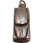 3 Dimensional Sterling Silver Sedan Car Charm