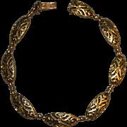 French Victorian 18k Gold Link Bracelet