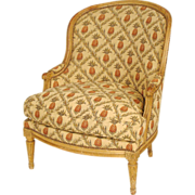 Louis XVI style painted bergere