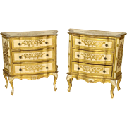 Matched pair of Italian commodes