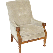 Victorian carved bergere