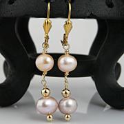 Artisan Handmade Pastel Cultured Pearl Drop Earrings