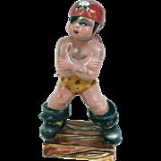 SALE Triart Bassano Italy Tattooed Pirate Ceramic Figurine 1940s