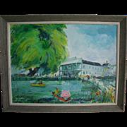 SALE Mid Century Palm Beach / NYC Artist Loren B Stone Original Oil Painting