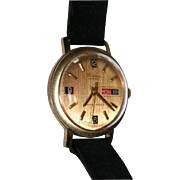 SALE Mens Lucerne Mechanical Swiss Made Calendar Watch Vintage 1960s