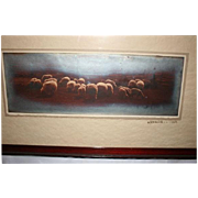 SALE 1907 Blauvelt NY Panoramic Photograph Pastoral Landscape Scene Signed Dated 1907
