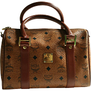 SALE Stunning MCM Munchen Vintage Boston Bag with Dust Case