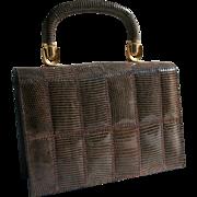 SALE Vintage NEW Tano Lizard Handbag with Brooklyn NYC Purse Shop Label Collector's Piece!