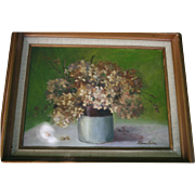 SALE Mid Century Still Life Oil Painting on Canvas
