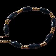 SALE 14K Gold Sodalite Beaded Bracelet