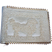 SALE Vintage New! 1950s Poodle Wallet