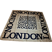 SALE Iconic London Vintage Silk Scarf by Harrods