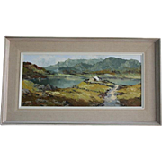 SALE Original Charles Wyatt Warren North Wales Landscape Framed Oil Painting on Board