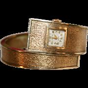 SALE Ladies Croton Mid Century Mod Wrap Around Cuff Wrist Watch Mid Century Mod