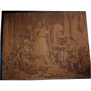 SALE Antique Framed Signed Tapestry after Sir Edwin Lanseer