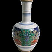 Large Deruta Raffaellesco Antico Vase Numbered Large Vintage Italian Majolica