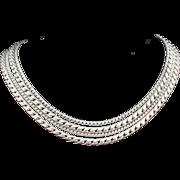SALE VOGUE Exceptional Silver Tone Multi-Textured Necklace