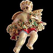 SALE Vintage Christopher Radko Christmas Cherub Pin