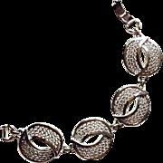 Sarah Coventry Silver Tone High Fashion Bracelet