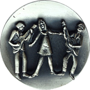 SALE Handcrafted Folk Singers Trio Brooch