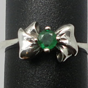 SALE Vintage 14kt Emerald Ring; FREE SIZING.