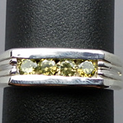 SALE Natural Peridot Silver Men's Ring;  ANY size from 4 to 15