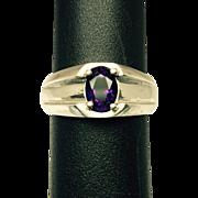 SALE Vintage Amethyst 14k Men's Ring FREE SIZING
