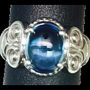 SALE Vintage Blue Topaz 14k Ring. FREE SIZING