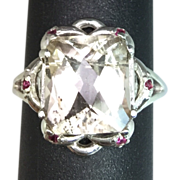 SOLD 14k Imperial Topaz & Ruby Ring. FREE SIZING